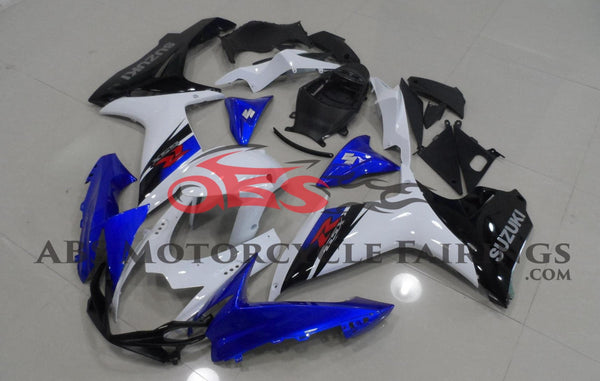 Suzuki GSXR750 (2011-2020) Blue, White & Black Fairings