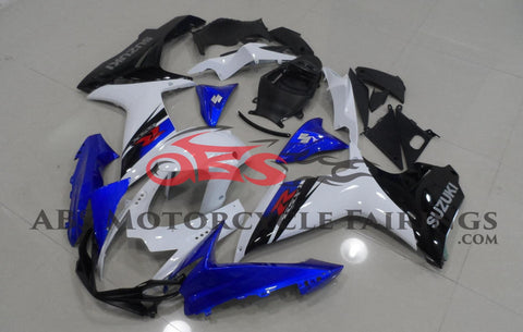Metallic Blue Black & White 2011-2014 Suzuki GSXR750