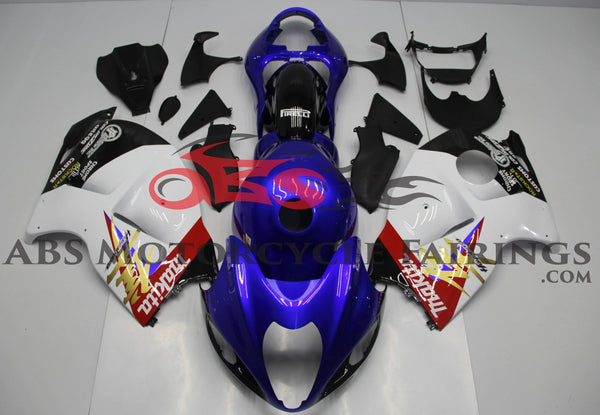 Suzuki GSXR1300 Hayabusa (1999-2007) Blue, White & Red Fairings