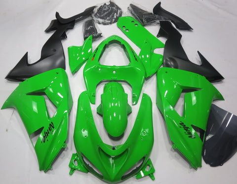Kawasaki Ninja ZX10R (2006-2007) Green & Black Fairings