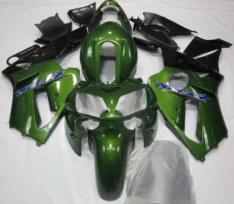 KAWASAKI NINJA ZX12R (2002-2006) DARK GREEN & BLACK FAIRINGS