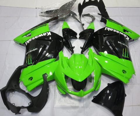 Kawasaki Ninja 250R (2008-2013) Green & Black Monster Fairings