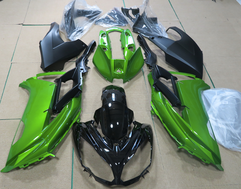 Green and Black fairing kit for Kawasaki ER6F 2012, 2013, 2014 motorcycles