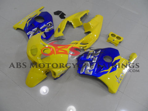 Yellow & Blue Honda MC22