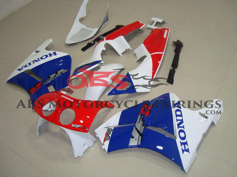 Blue Red & White 1989 Honda VFR400R NC30