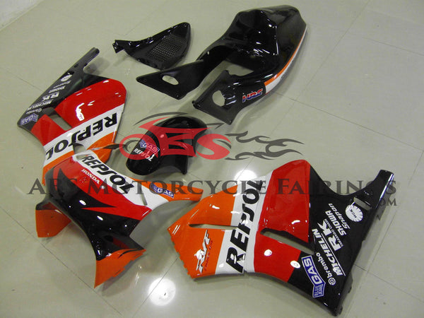Repsol Race Red Orange & Black 1994 Honda RVF400R NC35