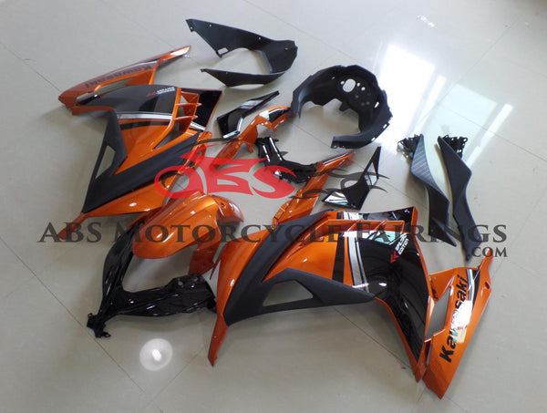 Kawasaki Ninja 300 (2013-2017) Orange & Black Fairings