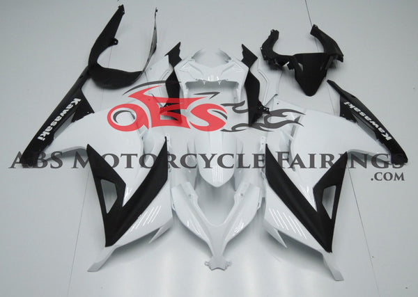 Kawasaki Ninja 300 (2013-2017) Black & White Fairings