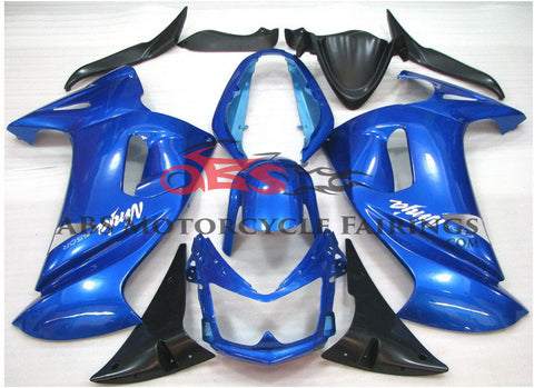 Blue & Black Fairing Kit for 2006-2008 Kawasaki ER6F