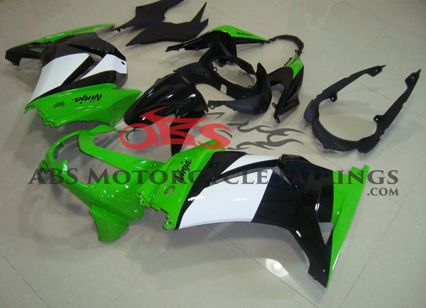 Green White & Black 2008-2012 Kawasaki NINJA 250