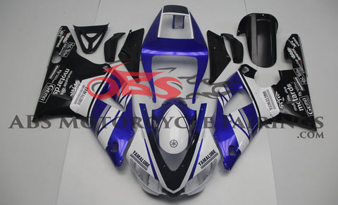 Blue, White & Black Yamalube Fairing Kit for a 1998 & 1999 Yamaha YZF-R1 motorcycle