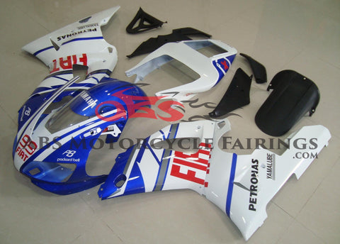 Blue, White and Red #99 Fairing Kit for a 1998 & 1999 Yamaha YZF-R1 motorcycle