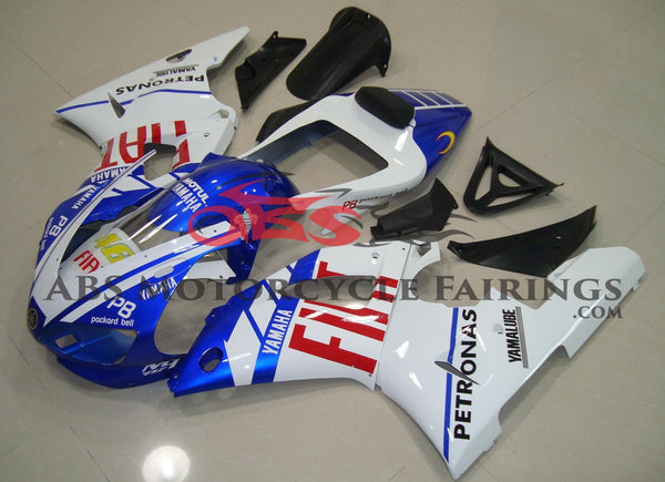Blue, White & Red Fiat #46 Fairing Kit for a 1998 & 1999 Yamaha YZF-R1 motorcycle.
