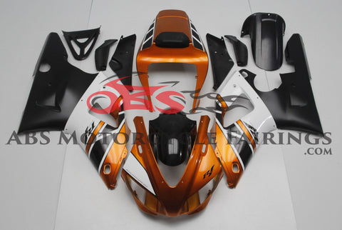 Bronze, Black & White Fairing Kit for a 1998 & 1999 Yamaha YZF-R1 motorcycle