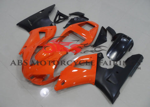 Orange and Matte Black Fairing Kit for a 1998 & 1999 Yamaha YZF-R1 motorcycle