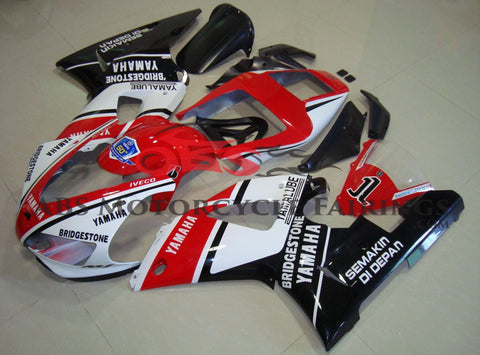 Yamaha YZF-R1 (1998-1999) Red, White & Black Yamalube Fairings