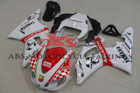 Yamaha YZF-R1 (1998-1999) White & Red Abarth Fairings