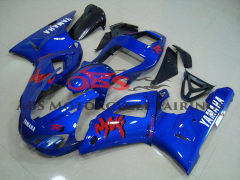 Blue with Red Decals 1998-1999 Yamaha YZF-R1