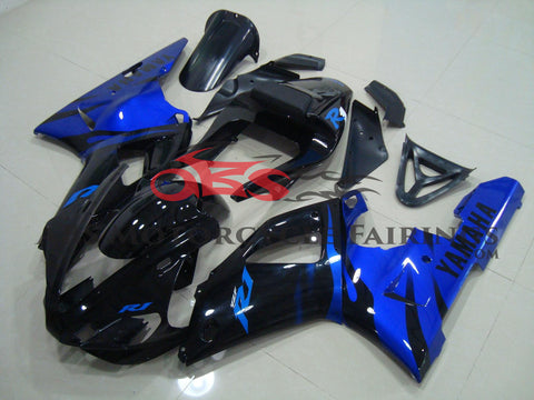 Black with Blue Flame 2000-2001 Yamaha YZF-R1
