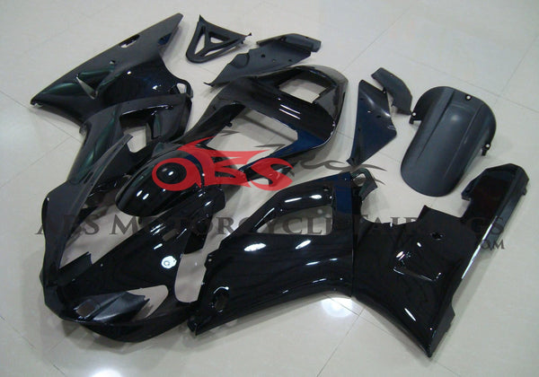 Gloss Black Fairing Kit for a 2000 & 2001 Yamaha YZF-R1 motorcycle