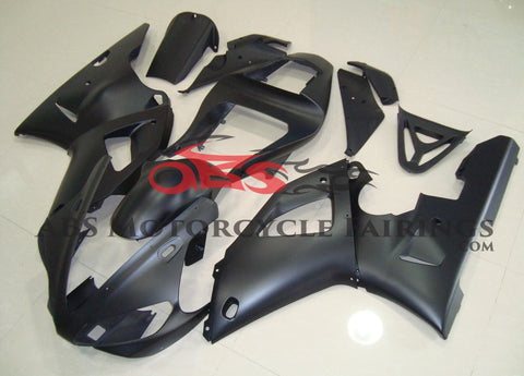 Matte Black Fairing Kit for a 2000 & 2001 Yamaha YZF-R1 motorcycle