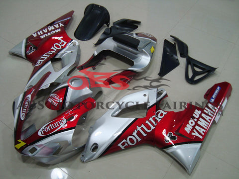 Yamaha YZF-R1 (2000-2001) Red & Silver Fortuna Fairings