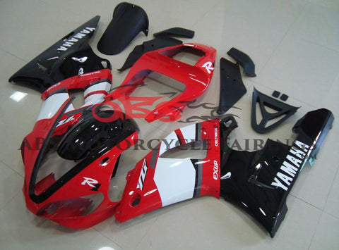 Red, White and Black DeltaBox  Fairing Kit for a 2000 & 2001 Yamaha YZF-R1 motorcycle
