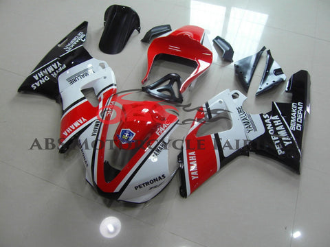 Yamaha YZF-R1 (2000-2001) Red, White and Black Yamalube Fairings