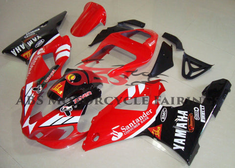 Red, Black and White Fairing Kit for a 2000 & 2001 Yamaha YZF-R1 motorcycle