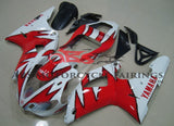 White and Red Tribal Fairing Kit for a 2000 & 2001 Yamaha YZF-R1 motorcycle