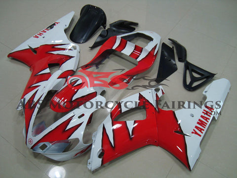 White with Red Flame 2000-2001 Yamaha YZF-R1