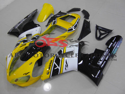 Yamaha YZF-R1 (2000-2001) Yellow, Black and White Fairings
