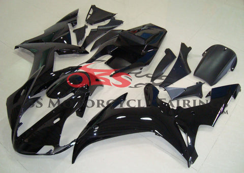 Gloss Black Fairing Kit for a 2002 & 2003 Yamaha YZF-R1 motorcycle