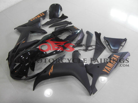 Black with Orange Decals 2002-2003 Yamaha YZF-R1