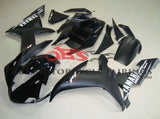 Matte Black & Gloss Black Fairing Kit for a 2002 & 2003 Yamaha YZF-R1 motorcycle