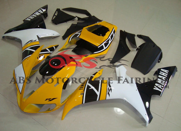 Yellow Black & White 2002-2003 Yamaha YZF-R1