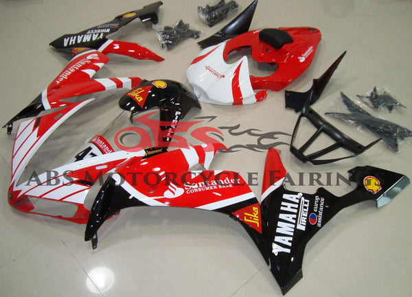 White, Red and Black Santander Fairing Kit for a 2004, 2005 & 2006 Yamaha YZF-R1 motorcycle