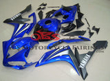 Blue & Black Fairing Kit for a 2007 & 2008 Yamaha YZF-R1 motorcycle.