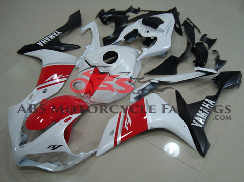 Red & Pearl White 2007-2008 Yamaha YZF-R1