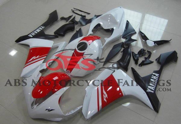 Red & White 2007-2008 Yamaha YZF-R1