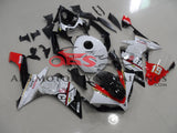 Yamaha YZF-R1 (2007-2008) Black, Red & White Thumbprint Fairings