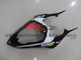 Black, Red and White Thumbprint Fairing Kit for a 2007 & 2008 Yamaha YZF-R1 motorcycle