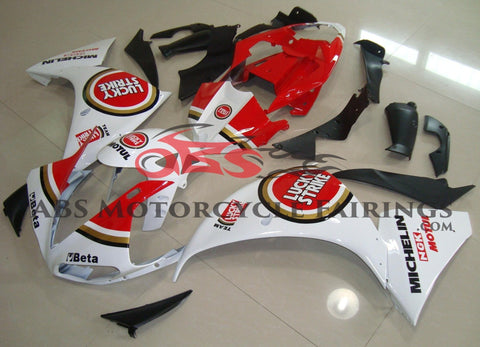 Yamaha YZF-R1 (2012-2014) White, Red & Gold Lucky Strike Fairings