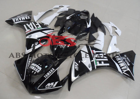 Yamaha YZF-R1 (2012-2014) Black & White FIAT Fairings
