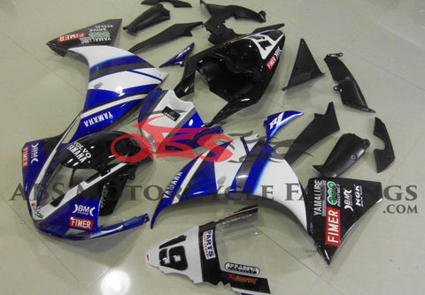 Fimer 19 White Blue & Black 2009-2011 Yamaha YZF-R1