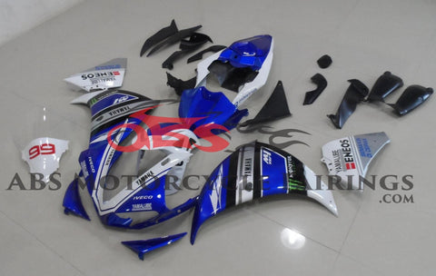Yamaha YZF-R1 (2012-2014) Blue & White Fairings