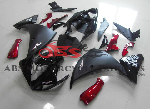 Yamaha YZF-R1 (2012-2014) Black, Matte Black & Candy Apple Red Fairings