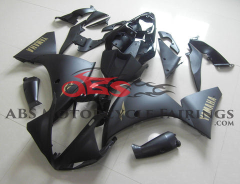 Matte Black with Gold Sticker 2009-2011 Yamaha YZF-R1