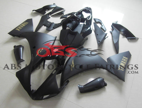 Yamaha YZF-R1 (2012-2014) Matte Black & Gold Fairings