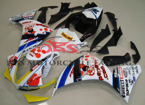 Yamaha YZF-R1 (2012-2014) White & Red Pepe Phone Fairings